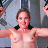 Nude Workout - Blue Eyes, Small Breasts, Small Tits, Naked Girl, Nude Amateur , Naked Exercise, Mature Woman, Naked Workout, Nude On Gym Equipment, Exercising In Gym, Muscular Build, Beautiful Smallish Breasts