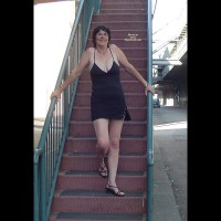 Topless Amateur:Stair Way