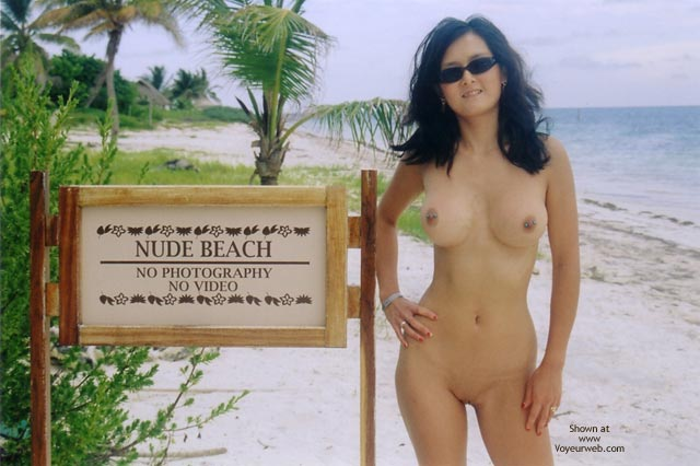 Asian With Pierced Nipples - Nude Outdoors, Pierced Nipples, Shaved Pussy , Asian With Pierced Nipples, Big Boobed Asian Chick, Shaved Pussy, Nude Outdoors, Nude Beach Sign, Nude By Sign, Pierced Nipples, Sun Glasses