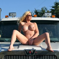 MILF - Blonde Hair, Erect Nipples, Large Breasts, Long Hair, Long Legs, Milf, Spread Legs, Naked Girl, Nude Amateur, Nude Wife , Naked On A Construction Truck, Mature Woman, New Hood Ornament, Nude Milf On Car Hood, Spread Legs