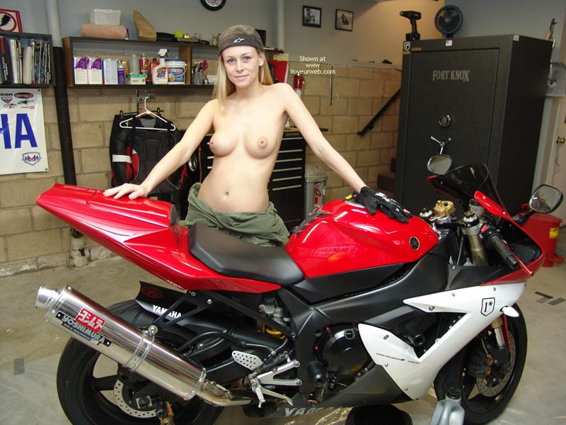 Lets Ride - Girls , Lets Ride, Biker Babe, Blonde On A Bike, Yamaha Babe, Topless Motorbike, Ride On The Wild Side, Naked Mechanic, Blond Posing On Motorcycle
