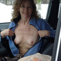 Topless Girlfriend: Trip To New Years Eve