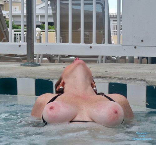Topless Wife Hot Tub Key West - May, 2010 - Voyeur Web-1312