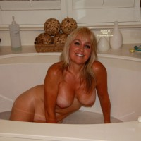Nude Wife: Taking A Bath