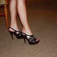 Nude Wife on heels:*NH Naked In High Heels