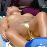 Voyeur Topless Girl On Beach - Brunette Hair, Topless Beach, Topless, Beach Tits, Beach Voyeur , Big Jugs, Topless Face Up On Towel, Topless Sunbathing, Tanned Breasts, Shiny Bikini, Smooth Legs, Topless Girl