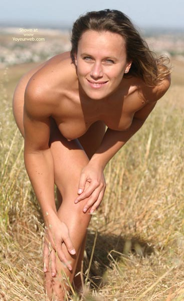 Topless Outdoors - Bend Over, Blue Eyes, Small Boobs, Topless Outdoors , Topless Outdoors, Bend Over, Naked Girl Outdoors, Outdoor Poses, Blue Eyes, Athletic Body, Looking Straight At Camera, On Grass, Light Eyes, Small Boobs
