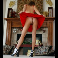 Fanning Her Hot Ass - Long Legs, Shaved Pussy, Tan Lines, Hot Wife, Sexy Figure, Sexy Girl, Sexy Legs, Wife Ass , Pantyless Hottie, Standing In Front A Fireplace, Pussy Shot From Her Ass End, Big Pussy Lips, Red Outfit, Butt View, Merry Xmas, Mantle Medley