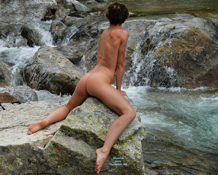 Nude Girl On A Rock - Brunette Hair, Dark Hair, Tan Lines, Naked Girl, Nude Amateur, Nude Wife, Sexy Figure , Sexy Pose, Grinding Rock, Very Sexy Pose, Barefoot, Shapely Legs, Slim, Athletic Body, Thong Tan Line, Short Hair, Bare Feet, Short Dark Hair, Thong Tan Lines