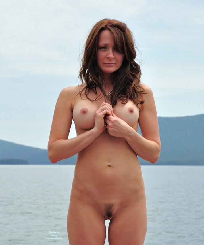Nude MILF - Hairy Bush, Hard Nipple, Landing Strip, Long Hair, Milf, Red Hair, Naked Girl, Nude Amateur , Full Frontal, Big Clit Ring, Slender Sexy Body, Pussy Ring, Pierced Clit, Lakeside Posing, Long Red Hair
