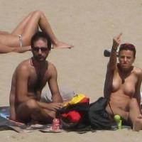 Beach Voyeur - Topless Beach, Beach Tits, Beach Voyeur, Naked Girl, Nude Amateur , Girl Giving, Extended Middle Finger, Nude Beach, Throwing The Finger