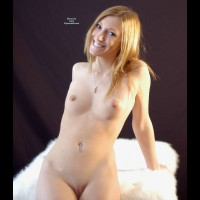 Sexy Nude Wife Sitting On Fur - Blonde Hair, Small Tits, Bald Pussy, Naked Girl, Nude Amateur, Nude Wife , Very Small Tits, Darling Nipples, Leaning Back On Hands, Hot Wife, Belly Ring, Inocent Smile, Hands Behind, Frontal Pose