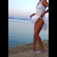 Pantieless Wife:*SP White Dress