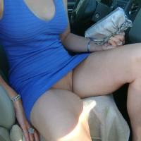Wife upskirt:Sexy Wife Flashing In Public