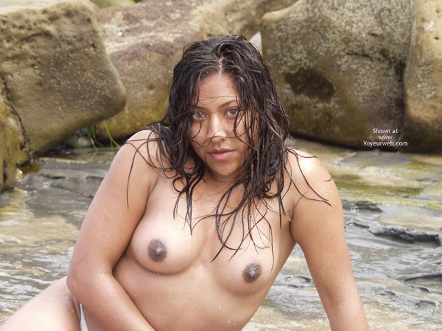 Nude women with perky tits and beautiful dark areolas