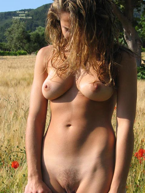 Natural Medium Breasts - Natural Tits, Naked Girl , Total Natural, Standing In A Field, Prime Pussy, Sexy Snatch, Natural Outdoors, Nice Tits, Hairy Bush, Looking Down, Sun Kissed, Poppies Popping