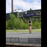 Nude Me on heels:*PL Soana Visit Zollverein
