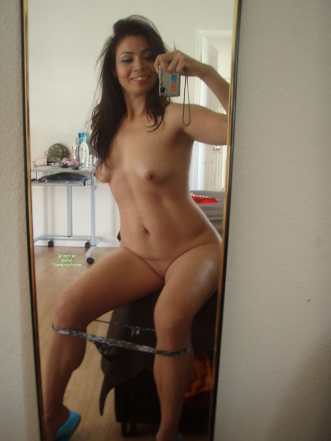Nude sitting on mirror you tell