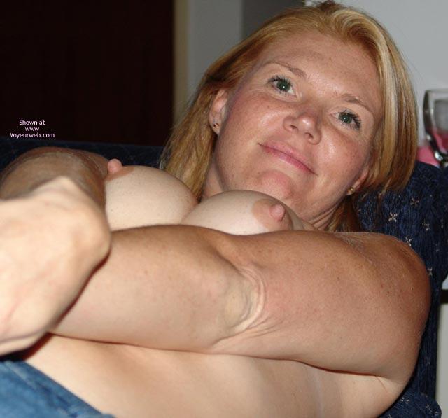 Perky Nipples - Hard Nipple, Perky Nipples , Perky Nipples, Hard Nipples, Breast Pushed Together, Smiling Face