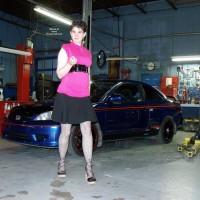 Wife in Lingerie:My Car