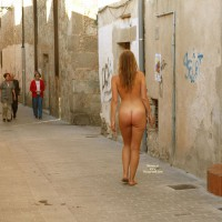 Buck Naked In An Alley - Blonde Hair, Exhibitionist, Long Hair, Nude In Public, Naked Girl, Nude Amateur, Sexy Ass , Walking Nude On The Street, Backside View, Naked Tourist, Great Ass, Open For All To See, Nude Walking Away From Camera