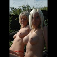 Two Topless Blondes - Nude Outdoors , Two Topless Blondes, Two Hot Blondes, Double Your Pleasure, Blondes And Tits, Outdoor Nude, Blonde Girls, Belly Button Rings, Double Platium + 4