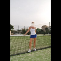 Me dressed sexy:Tennis Lessons Part 1