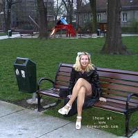Suzy on park bench
