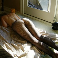 Ex-Girlfriend in Lingerie: Mesh Tights By The Window