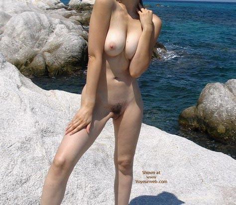 wife nude beach greece