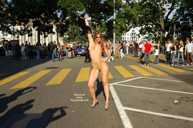 Nude On Public Street - Exhibitionist, Nude In Public , Nude On Public Street, Naked In Public, Nude In Street, Naked In Street, Naked In Front Of Lots Of People, Heels Only, Exhibitionist
