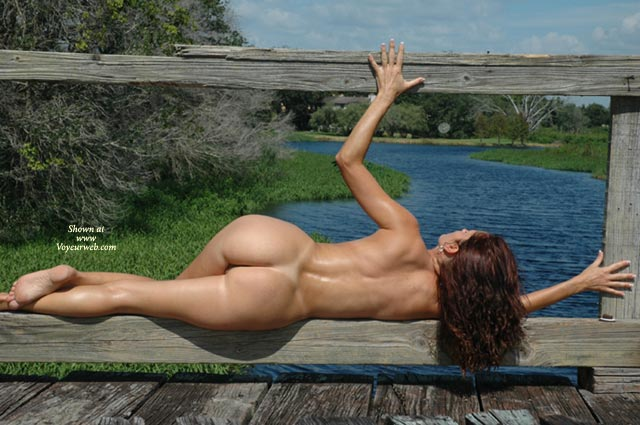 Rail Guard - Brunette Hair, Butt Shot, Full Nude, Nude Outdoors, Side View , Rail Guard, Buff Chick, Nude Landscape, Awsome Ass, Flawless Back, Full Nude, Side View, Butt Shot, Brunette, Toned Body, Outdoors