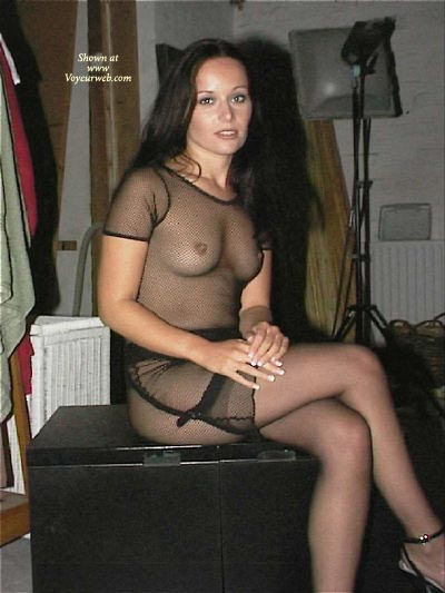 Pic #1Temptress In Sheer Dress And Stockings