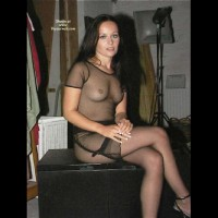 Temptress In Sheer Dress And Stockings