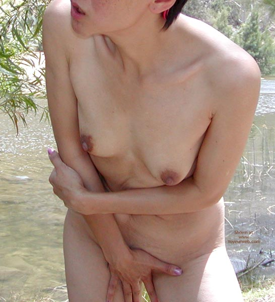 Pic #1 Wife Cooling Off By The River