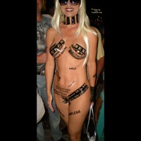 Nude Girl With Stickers - Sunglasses, Naked Girl, Nude Amateur , Nude Blond Girl With Sunglasses, Naked Beauty, Marketing Genius, Nude Fantasy Fest, Film Buff, Standing Frontal Nude, Labelled Naked, Festival Voyeur, Slutty Outfit, Stickers On Naked Girl