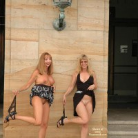 Nude In Public - Black Dress, Exposed In Public, Girls, No Panties, Nude In Public , Nude In Public, No Panties, Exposed In Public, Two Girls, Black Dress, Gg Undressing In Public