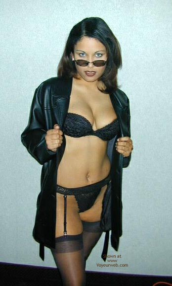 Sexy Sunglasses - Bra, Stockings , Sexy Sunglasses, Sexy Black Bra, Black Coat, Black Suspenders, Black Stockings