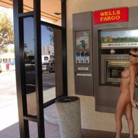 Nude At Atm - Blonde Hair, Nude In Public , Nude At Atm, Bank Jackpot, Credit Or Debit, Blonde, Nude In Public, Nude On Public Street