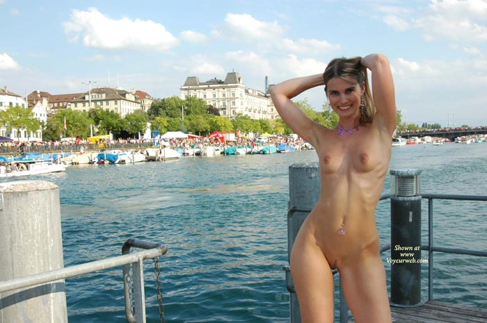 Arms Up - Long Hair, Nude Outdoors, Small Tits , Arms Up, Shaved Nude Outdoors, Small Tits, Nude On The Pier, Long Blonde Hair, Tiny Tits, Navel Pierced
