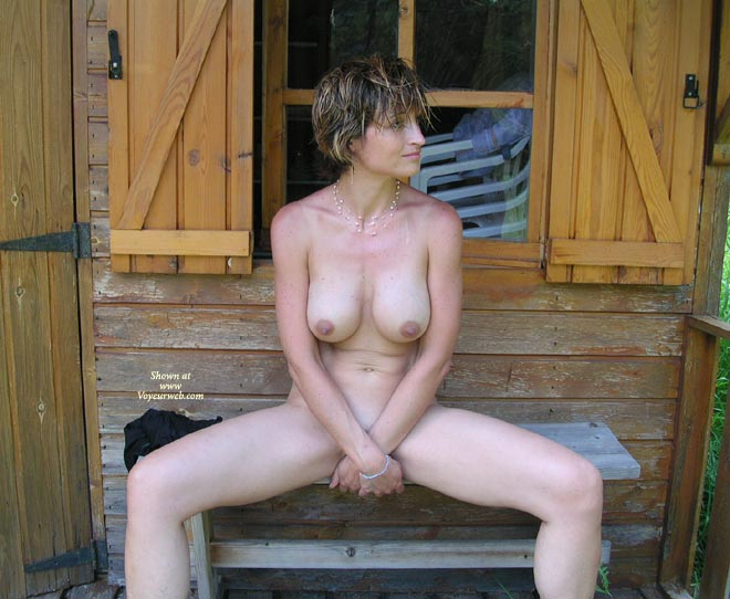Legs Open - Big Tits, Nudity , Legs Open, Sweet, Cabin Nudity, Covering Crotch, Big Tits