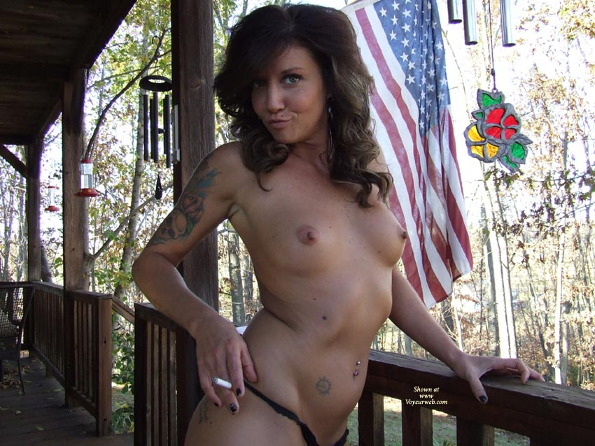 All American Topless Girl - Big Tits, Brunette Hair, Topless, Nude Amateur , Curly Brunette Hair, Born To Be Wild, Topless And Taunting, Naked Brunette In A Black Thong, Oversize Tatto On Right Upper Arm, Nice Tan, Perfect Tits, Tattoos, Big Nipples, All American Babe