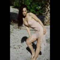 Girl Standing On Beach See Through Dress - Black Hair, Long Hair , Sexy Dress Outdoors, Wet Material, Summer Dress, Rivers Edge, Tropical Feelings, Long Black Hair, Sexy Friend, Seethru Dress