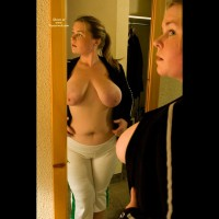 Big Boobs In Mirror - Big Nipples, Big Tits, Mirror Shot, Topless , Big Boobs In Mirror, Mirror Images, Big Nipples, White Pants, Saggy Boobs, Big Boobs, Chunky Chick, Topless