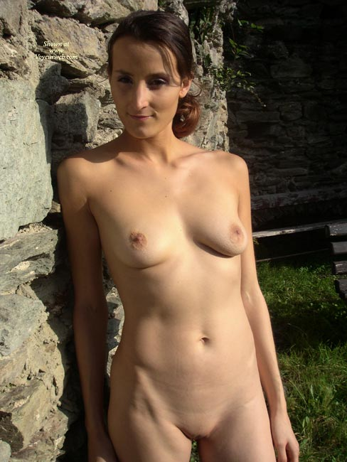 Remarkable, nude girl natural standing