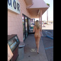 Chance Of Being Seen - Blonde Hair, Nude In Public, Nude Outdoors , Chance Of Being Seen, Naked Eip In Heels, Naked By Convience Store, Blond Hair, Outdoor Nudity, Public Nudity