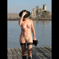 Nude Wife On Dock - Stockings, Nude Amateur, Nude Wife , Pussy And Tits, Hiding Face Under Hat, Black Hat, Black Hat Net Stockings Boots, Hat And Stockings, Catching A Little Sunshine, Hats Off To You, Walking On Jetty, Black Thigh-high Fishnet Stockings, Black Boots, Castle Ruins, Castle Watch Of Nude