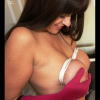Breast Bondage - Bondage, Brunette Hair , Tit In Hand, Tied Titties, Tightly Bound Cassabas, Tied Tits, Busty Brunette Side View, Looking Down At Bound Breasts, Breasts Hog Tied, Fingers Around One Nipple, Breasts All Tied Up, Pink Glove Holding Breast On