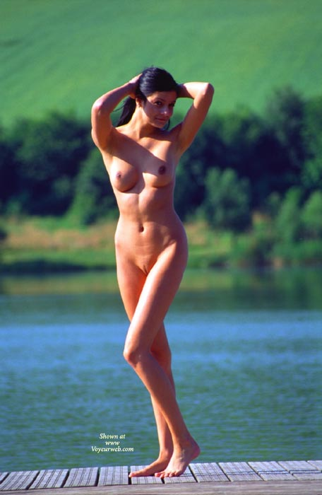 Standing Nude On Pier Pulling Hair Back With Both Hands - Black Hair, Brunette Hair, Landing Strip, Long Hair, Long Legs, Perfect Tits, Shaved Pussy, Naked Wife, Nude Amateur, Nude Wife , Nice Tits, Hands Behind Head, Medium Full Breasts, Tanned, Appealing Pose, Standing Beauty, Standing Close To Water, Long Skinny Legs, Athletic Body, Shaved Pussy With Landing Strip