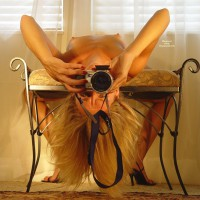 Arched Self Photographer Shooting Nude - Blonde Hair, Erect Nipples, Long Hair, Small Tits, Nude Amateur , Pokie Nipples, Pointies And Shoot, Naked Photographer, Upside Down Blond - Erect Nipples, Slender Arms, Self On A Stool, Red Finger Nails, Reverse Nips At Attention, Wonderful Tits
